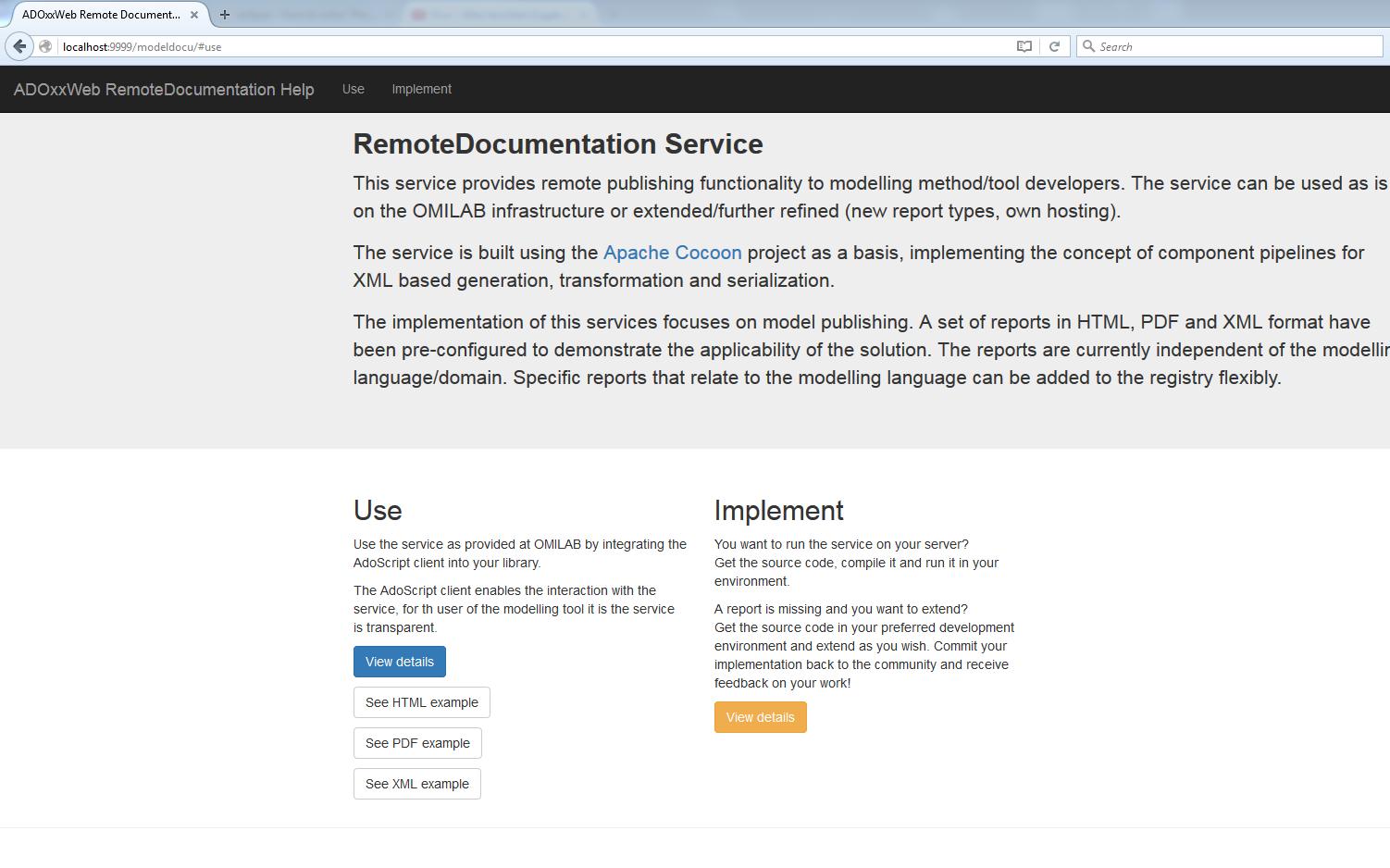 Extend: Remote Model Documentation - ADOxx org